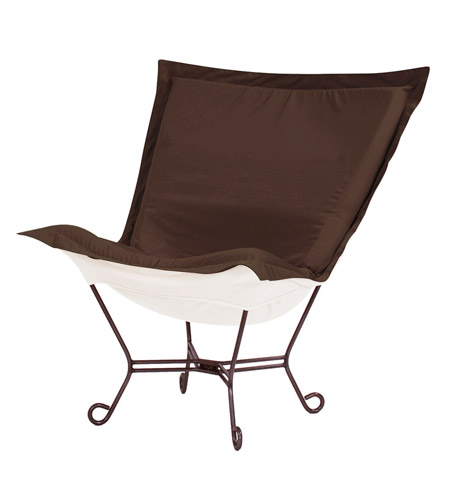 Howard Elliott Collection Q555 462 Seascape Chocolate Brown Outdoor Patio  Chair Photo