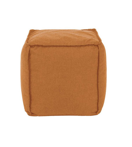 Howard Elliott Collection Q873-297 Pouf 18 inch Orange Outdoor Ottoman photo