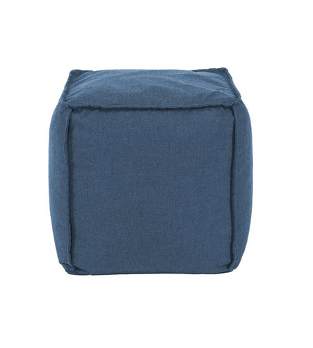 Howard Elliott Collection Q873-298 Pouf 18 inch Blue Outdoor Ottoman photo