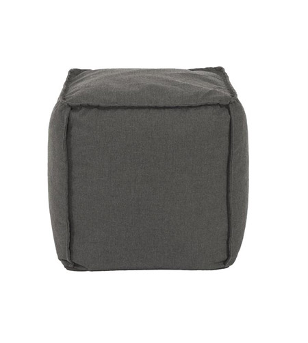 Howard Elliott Collection Q873-460 Pouf 18 inch Gray Outdoor Ottoman photo