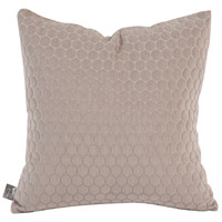 Square 16 inch Stone Gray Pillow