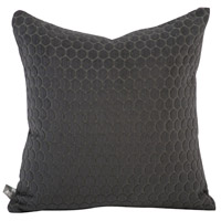 Square 16 inch Pewter Gray Pillow