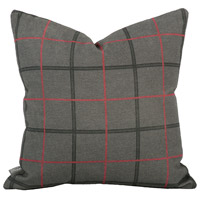 Square 16 inch Charcoal Gray Pillow