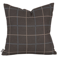 Square 16 inch Slate Gray and Sand Pillow