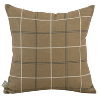 Square 16 inch Moss Brown and Light Slate Pillow