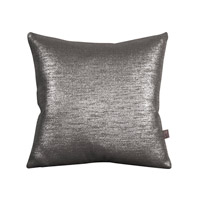 Howard Elliott Collection 1-236F Glam 16 X 6 inch Metallic Silver Pillow, Square photo thumbnail