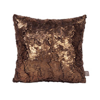 Howard Elliott Collection 1-295 Gold Cougar 16 X 6 inch Gold Metallic Pillow, Square photo thumbnail