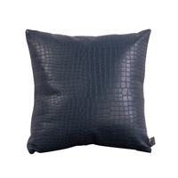 Howard Elliott Collection 1-469F Gator 16 X 16 inch Indigo Blue Pillow, Square photo thumbnail