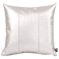 Signature 16 inch Mercury and Polyurethane Faux Leather Pillow, Square