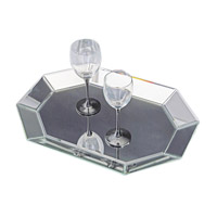 Howard Elliott Collection 11047 Signature Tray, Octagonal, Mirrored