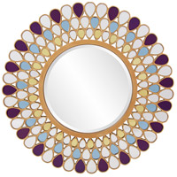 Howard Elliott Collection 11111 Grace 40 X 40 inch Amethyst and Amber Wall Mirror, Round photo thumbnail
