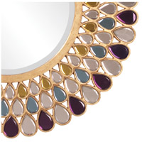 Howard Elliott Collection 11111 Grace 40 X 40 inch Amethyst and Amber Wall Mirror, Round alternative photo thumbnail