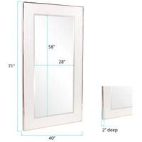 Howard Elliott Collection 11135 Devon 71 X 40 inch White Mirror Wall Mirror alternative photo thumbnail
