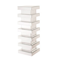 Howard Elliott Collection 11144 Stepped 36 X 12 inch Pedestal, Mirrored