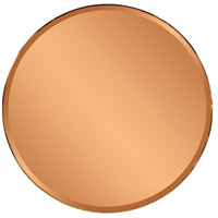 Aidan 40 X 40 inch Copper and Gold Wall Mirror, Round