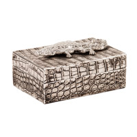 Howard Elliott Collection 12228 Crocodile 8 inch Crocodile Texture Decorative Box