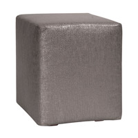 Howard Elliott Collection 128-236 Glam 20 inch Graphite Ottoman photo thumbnail
