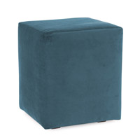 Howard Elliott Collection 128-250 Mojo 20 inch Turquoise Blue Ottoman photo thumbnail