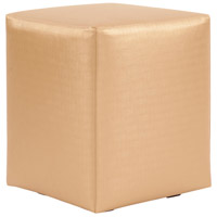 Universal 20 inch Gold and Polyurethane Ottoman, Cube