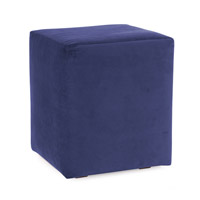Howard Elliott Collection 128-972 Bella 20 inch Bold Royal Blue Ottoman photo thumbnail
