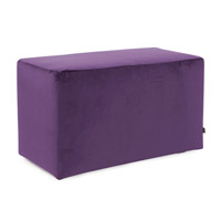 Howard Elliott Collection 130-223 Bella 20 inch Eggplant Purple Ottoman photo thumbnail