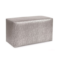 Howard Elliott Collection 130-237 Glam 20 inch Gray Ottoman photo thumbnail