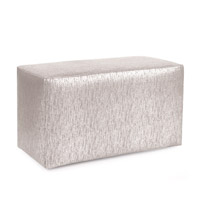 Howard Elliott Collection 130-239 Glam 20 inch Sand Ottoman photo thumbnail