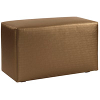 Universal 20 inch Bronze and Faux Leather Ottoman