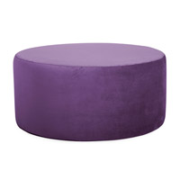 Howard Elliott Collection 132-223 Bella 18 inch Eggplant Purple Ottoman photo thumbnail