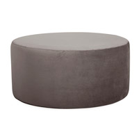 Howard Elliott Collection 132-225 Bella 18 inch Pewter Gray Ottoman photo thumbnail