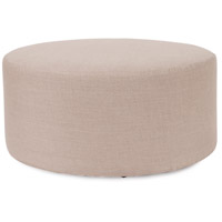 Howard Elliott Collection 132-610 Prairie 18 inch Natural Linen Ottoman photo thumbnail