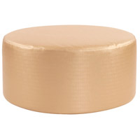 Universal 18 inch Gold and Polyurethane Ottoman, Round