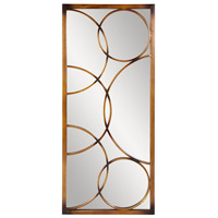 Brittany 47 X 21 inch Brushed Antique Bronze Metal Wall Mirror, Rectangle