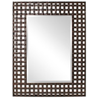 Howard Elliott Collection 13326 Patrick 46 X 37 inch Antique Black Wall Mirror, Rectangle photo thumbnail