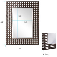 Howard Elliott Collection 13326 Patrick 46 X 37 inch Antique Black Wall Mirror, Rectangle alternative photo thumbnail
