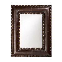 Howard Elliott Collection 1339 Palermo 45 X 35 inch Dark Brown Faux Leather Wall Mirror, Rectangle photo thumbnail