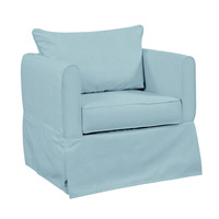 Sterling Light Blue Accent Chair Home Decor