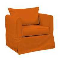 Alexandria Orange Accent Chair Home Decor, Linen Texture