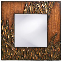 Howard Elliott Collection 14199 Cameron 30 X 30 inch Copper Wall Mirror, Square, Bronze Blades of Grass photo thumbnail