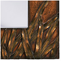 Howard Elliott Collection 14199 Cameron 30 X 30 inch Copper Wall Mirror, Square, Bronze Blades of Grass alternative photo thumbnail