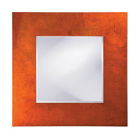 Howard Elliott Collection 14205 Kayla 46 X 46 inch Orange Lacquer Wall Mirror, Square, Black Highlights photo thumbnail