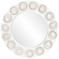 Howard Elliott Collection 14287 Rhumba 36 X 36 inch White Lacquer With Black Spirals Wall Mirror, Round photo thumbnail