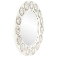 Howard Elliott Collection 14287 Rhumba 36 X 36 inch White Lacquer With Black Spirals Wall Mirror, Round alternative photo thumbnail
