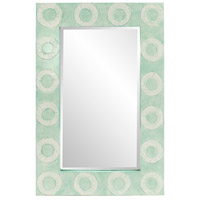 Howard Elliott Collection 14293 Rhumba 48 X 32 inch Blue-Green Lacquer Wall Mirror, Rectangle
