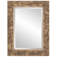 Howard Elliott Collection 14294 Sylvan 40 X 30 inch Wood Cobblestone Wall Mirror, Rectangle