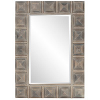 Howard Elliott Collection 14299 Dakota 42 X 30 inch Gray Stain Wall Mirror Home Decor, Wood