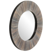 Howard Elliott Collection 14301 Henley 18 X 18 inch Dark Rustic Wood Wall Mirror alternative photo thumbnail