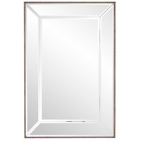 Howard Elliott Collection 15208 Roberto 36 X 24 inch Champagne Silver Beaded Trim Wall Mirror, Rectangle