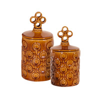 Signature Mocha Brown Vase, Set of 2