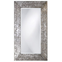 Howard Elliott Collection 1980 Napier 46 X 26 inch Brushed Silver and Black Wall Mirror, Rectangle photo thumbnail